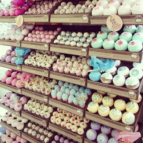 """Here is an image of several different types of bath bombs. This images makes me think of variety. Looking at this image motivates me to master """"variety"""" as a whole. Being able to create an assortment of the same products in different scents, colors, and shapes gives customers options. We all love options, right?"""