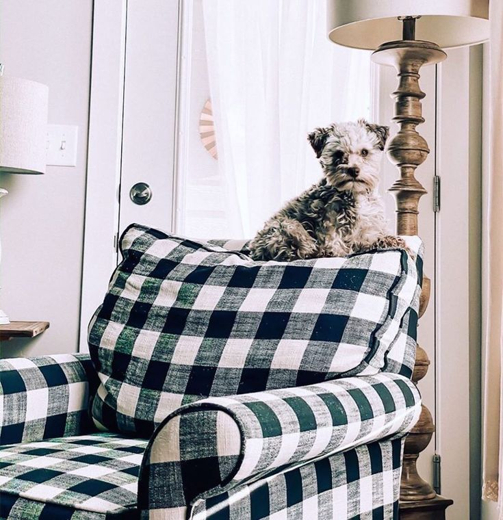 Black and white buffalo plaid accent chair blake in 2020