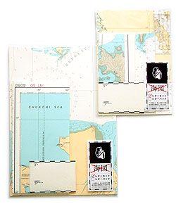 生まれかわった廃版海図  海図レターセット