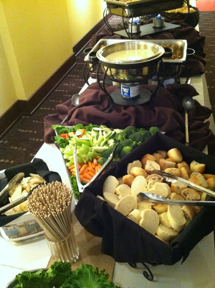 Fondue Dinner Party Ideas Part - 15: Cheese Fondue Bar #fondue #party