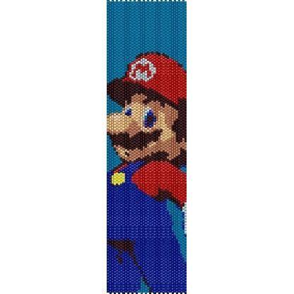 Super Mario - beading cuff bracelet pattern for peyote or  loom ( Buy Any 2 Patterns - 3rd. FREE ) - pdf. $4.00, via Etsy.