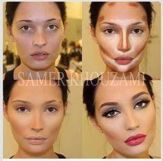 oblong face shape contour - Google Search