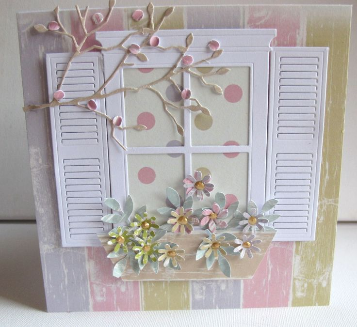 Memory Box Dies For Cards | ... before being arranged into the window box, which I cut by hand