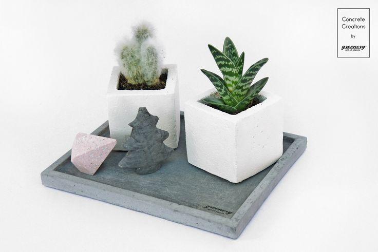 Concrete Kit! #greenery #concrete #plants #succulents #cactus #decoration #christmas #gifts #greece