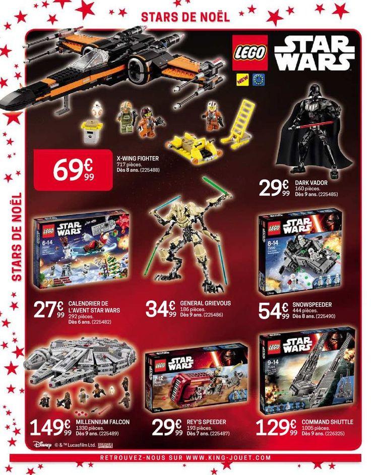 Prospectus Promoconso : Star de Noël - Lego Star Wars - Loisirs - Jouets : Construction et figurines Lego Star Wars X-Wing Fighter, Figurine Dark Vado...