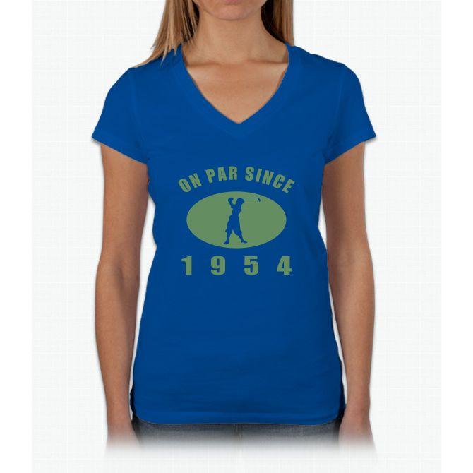 1954 Birthday Golf Womens V-Neck T-Shirt