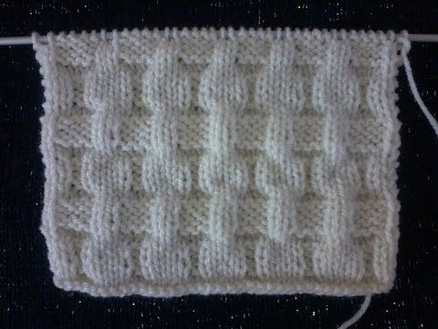 tuto point tricot : le point de manne ( 1 ) - YouTube