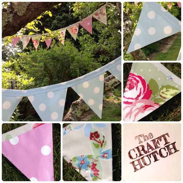 'Shower-proof' bunting in choice of colours - The Supermums Craft Fair