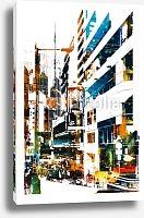 Постер Современный город