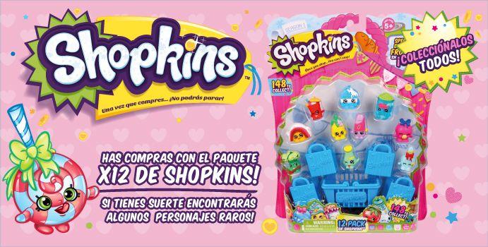 Has compras con el paquete x12 de Shopkins!