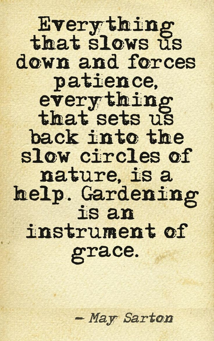 Need to frame this quote highlighting the Benefits of Gardening.