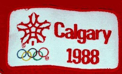 Souvenir patch, Calgary Winter Olympics, 1988