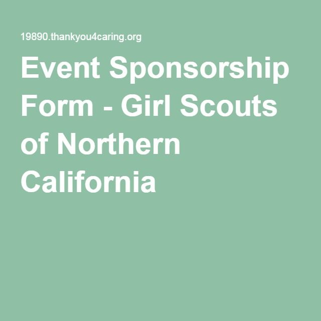 Event Sponsorship Form - Girl Scouts of Northern California YWLI - sponsorship form