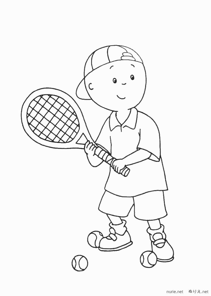 Caillou Coloring Pages Online Picture 20