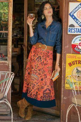Baroque Border Skirt from Soft Surroundings