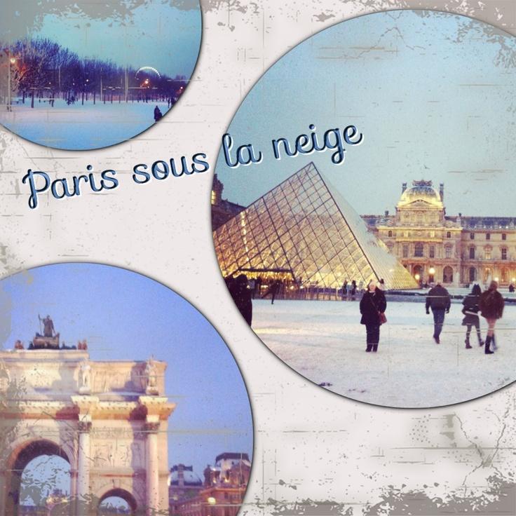 Paris #snow #2013