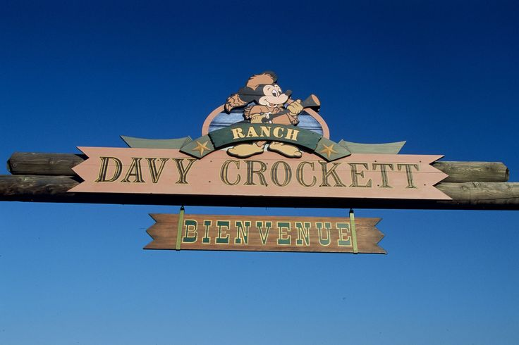 Disney Hotels, Davy Crockett Ranch - Entrance Sign, Disneyland Paris