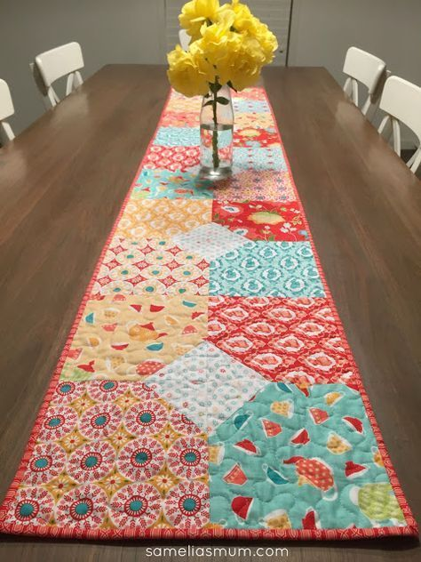 Layers of charm table runner free pattern