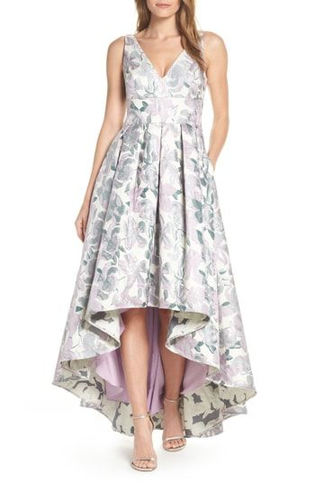 441e5b801d New Eliza J Floral Jacquard High Low Evening Dress womens dresses.   228   topoffergoods offers on top store