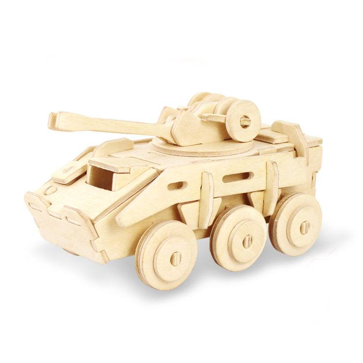 3d wooden explosion proof armoured vehicle puzzle for kids adults