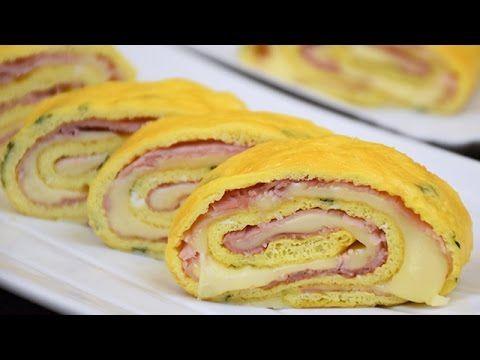 Rotolo di frittata al forno con prosciutto e formaggio - Ricetta di Fidelity Cucina - YouTube