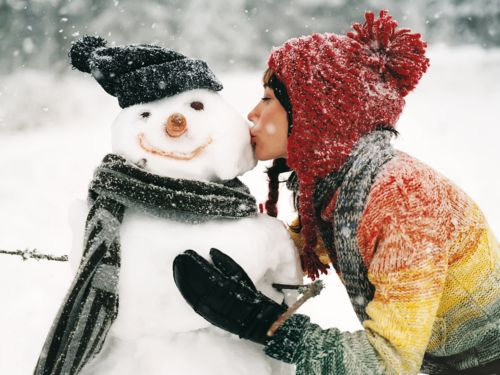 8): Winter Snow, A Kiss, Snowmen, Winter Wonderland, Holidays, Snowman, Christmas Card, Photography