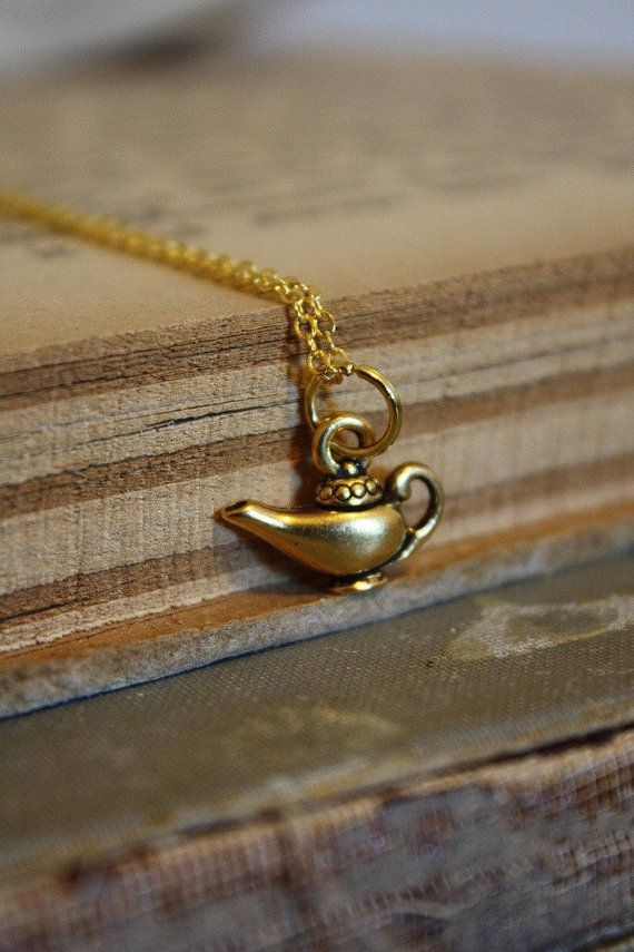 Aladdin's Lamp Necklace by spacepearls on Etsy