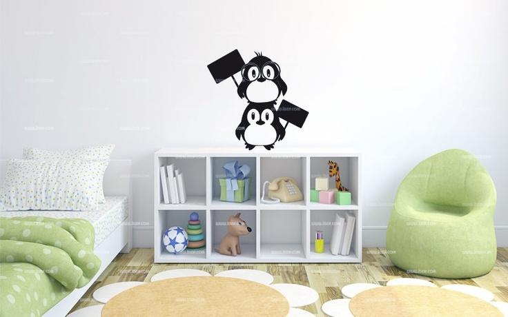 Stickers ardoise pingouin    http://www.idzif.com/idzif-deco/stickers-enfant/stickers-divers/produit-stickers-ardoise-pingouin-7319.html