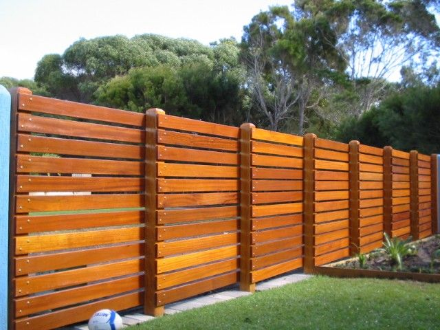 This Design Would Look Good On Both Sides Garden Ideas Pinterest Backyard Timber Fencing