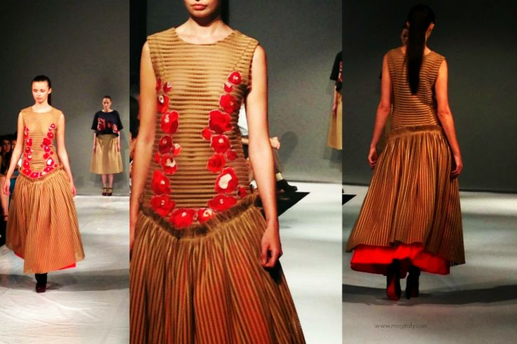 designed and tailored by Alison Seary  - watch the runway pics here http://www.mugitaly.com/2014/06/future-of-fashion-fit-in-milan.html