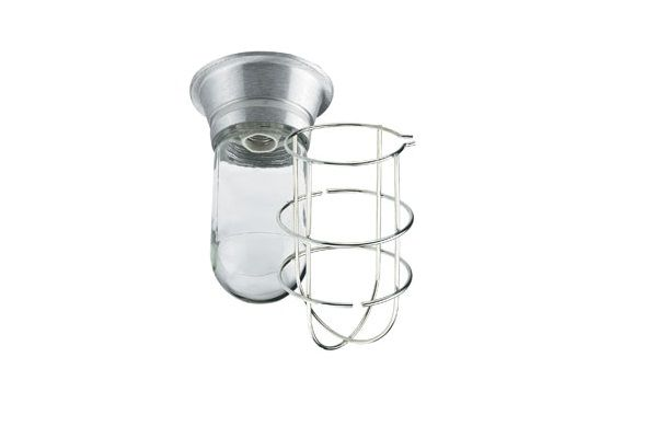 Krowne Exhaust Hood Vaporproof Light Fixture Shatterproof Plastic Coated Globe with Wire Guard 25-112