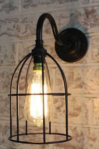 Cage Gooseneck Wall Light ideal for spots where a pendant light / floor lamp would be too obtrusive - Fat Shack Vintage - Fat Shack Vintage. 109