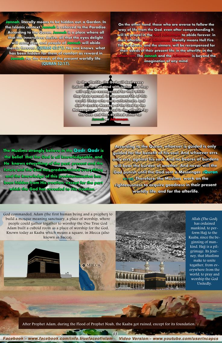 Jannah and Jahannam, Qadr, The Kaaba & the Hajj