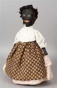 Early 20th Century Primitive Black Rag Doll -