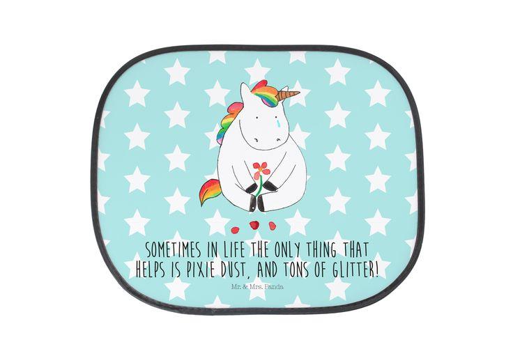 Auto Sonnenschutz Unicorn Traurig mit Spruch aus Kunstfaser  Natur - Das Original von Mr. & Mrs. Panda.  Der einzigartige Sonnenschutz von Mr. & Mrs. Panda ist wirklich etwas ganz Besonderes.    Über unser Motiv Unicorn Traurig mit Spruch  Ooooh, ein trauriges Einhorn... Da hilft wohl nur noch jede Menge Glitzer! Das traurige Einhorn ist die beste Methode, um jemanden vom Liebeskummer zu befreien. Manchmal läuft es nicht so wie geplant, dann braucht man Feenstaub und jede Menge Glitzer…
