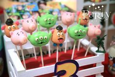 Awesome cake pops at a Toy Story birthday party! See more party ideas at CatchMyParty.com!