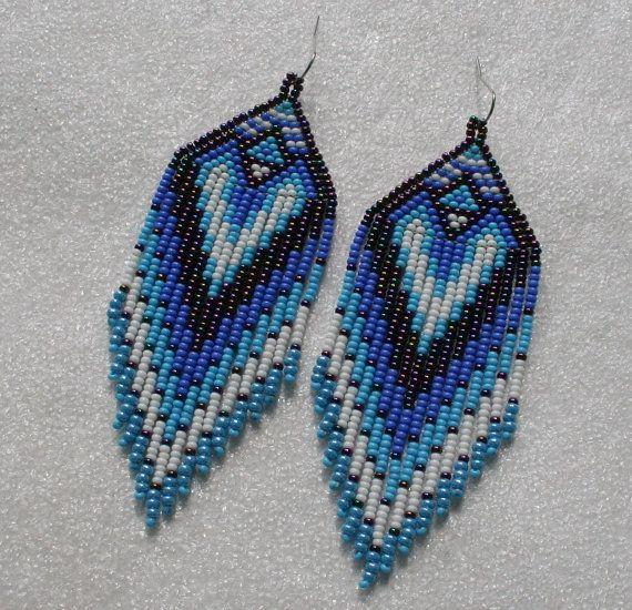 Largo de aretes de perlas de estilo indio estilo tribal por Olisava                                                                                                                                                                                 Más