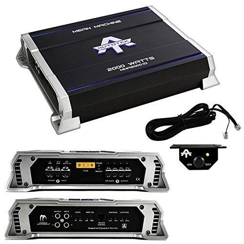 New Autotek MMA2000.1D 2000 Watt Mono Class D Amplifier Mean Machine Car Amp. Autotek Mean Machine Mono 2000W Amplifier Class D.