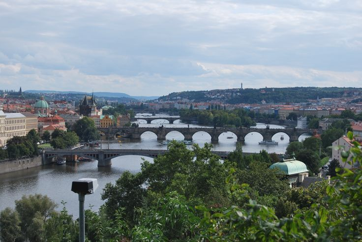 Prague - View from the beer gardens