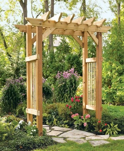 A trellis like this is very easy to put together and can be delivered right to your front door.  Grow some vines, clematis, or ivy up it to give it more of an English garden look and feel.