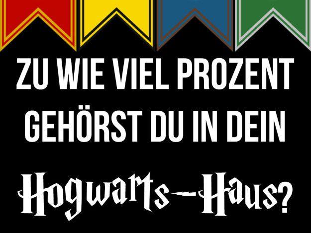 Zu wie viel Prozent gehörst du in dein Hogwarts-Haus