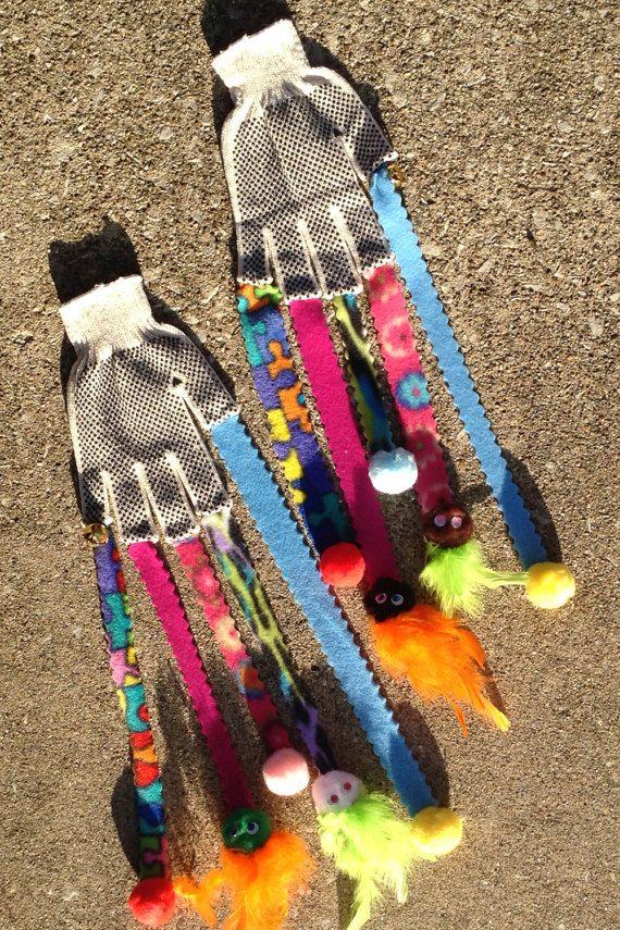 Cat Toy Glove, Kitten Mitten with Streamers  # Cat Toys