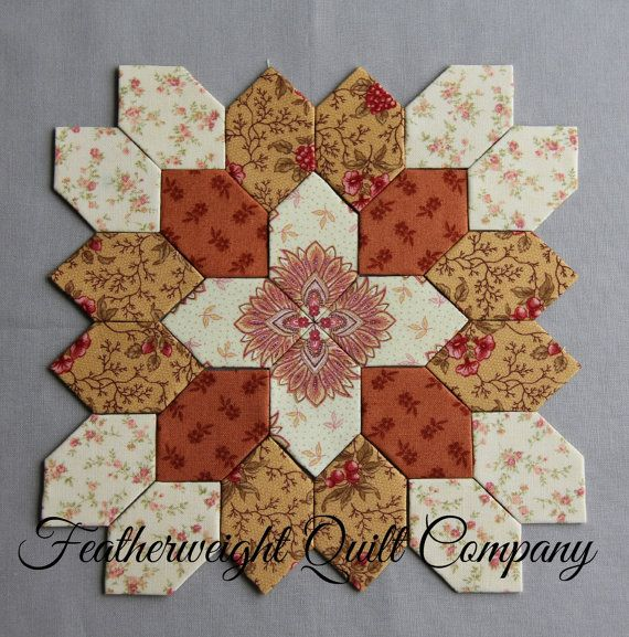 I love both options on this block!    This listing is for the FABRIC and 25 - 1 honeycomb paper pieces to make the above quilt block. There