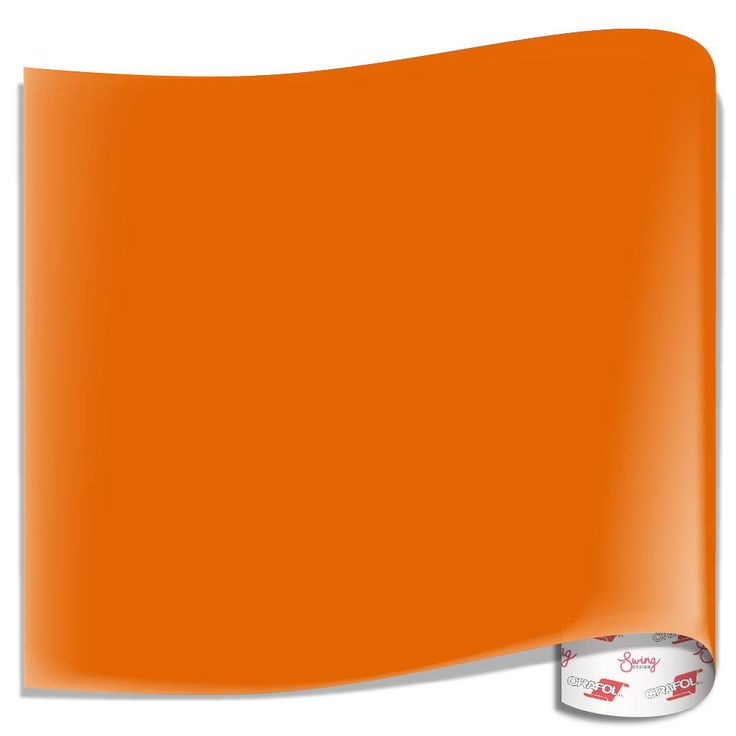 Oracal 651 Glossy Vinyl Sheets - Light Orange
