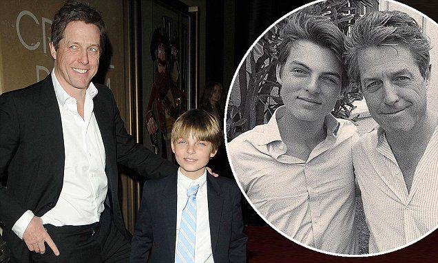 Elizabeth Hurley S Son Damian Cheekily Teases Hugh Grant Hugh Grant Elizabeth Hurley Hurley