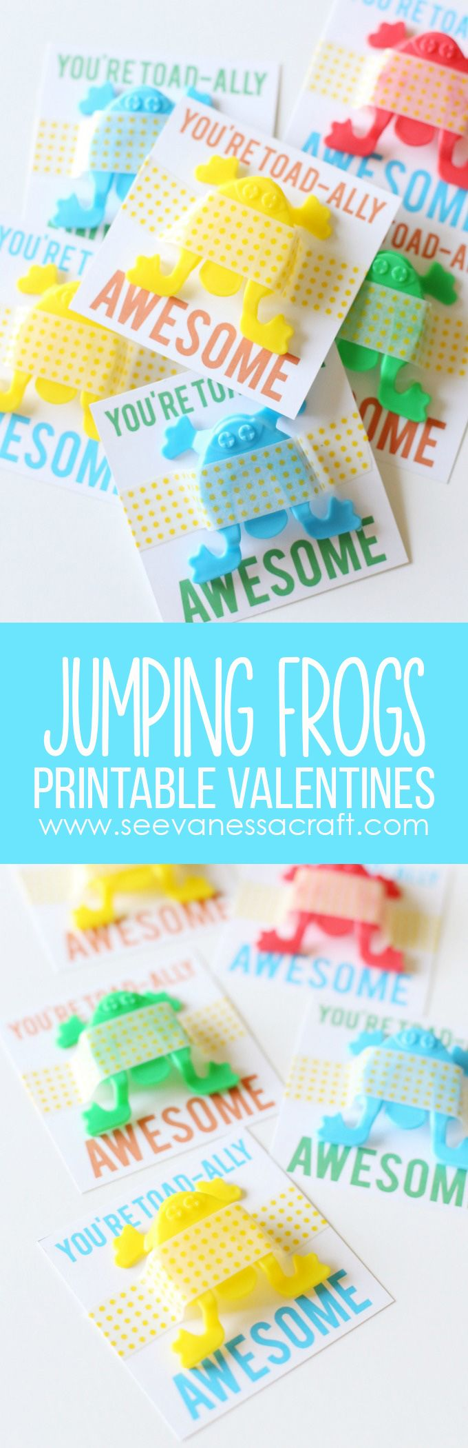 """Valentine's Day Jumping Frogs FREE Printable for Kids: """"You're Toad-Ally Awesome"""""""