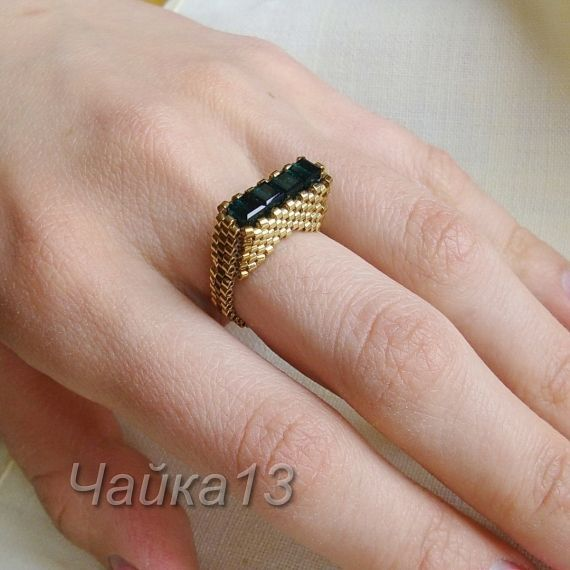 Best Seed Bead Jewelry  2017  picture tute link to Lyudmila ring  Seed Bead Tutorials