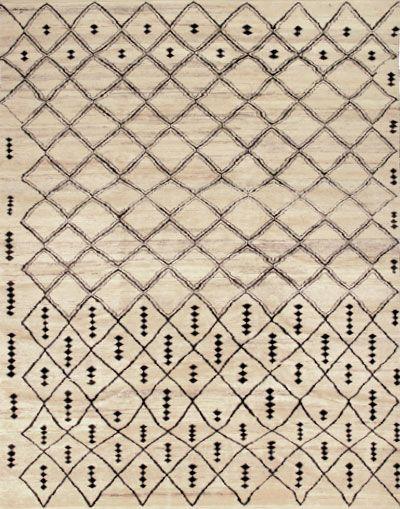 ivory and black rug