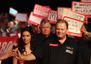 Raymond van Barneveld will be looking to boost his chances of qualifying for the Finals Day when he takes on world champion Adrian Lewis in the Premier League Darts in Cardiff on Thursday.