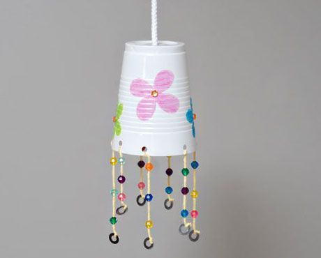 Click pic for 28 Spring Crafts for Kids - Plastic Cup Windchime  | Spring Craft Ideas for Preschoolers